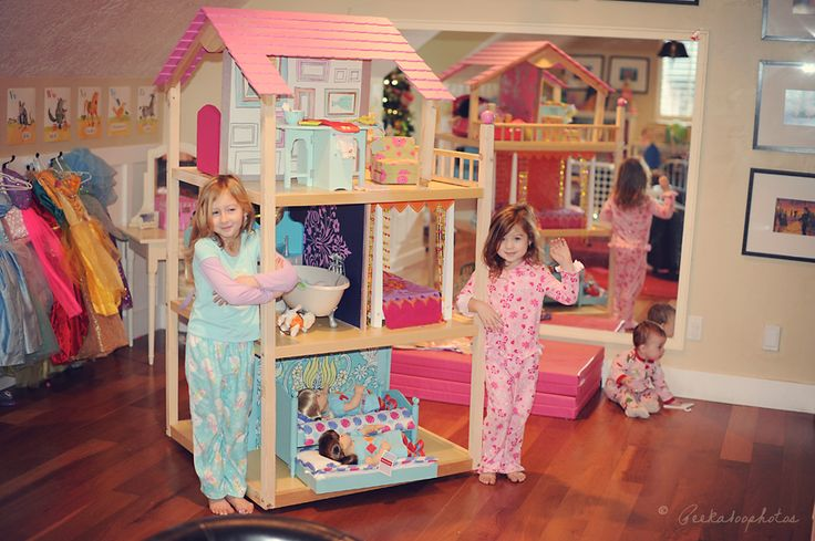 Modified kidcraft doll house, adjusted for height of AG dolls! Peekaboophotos.com