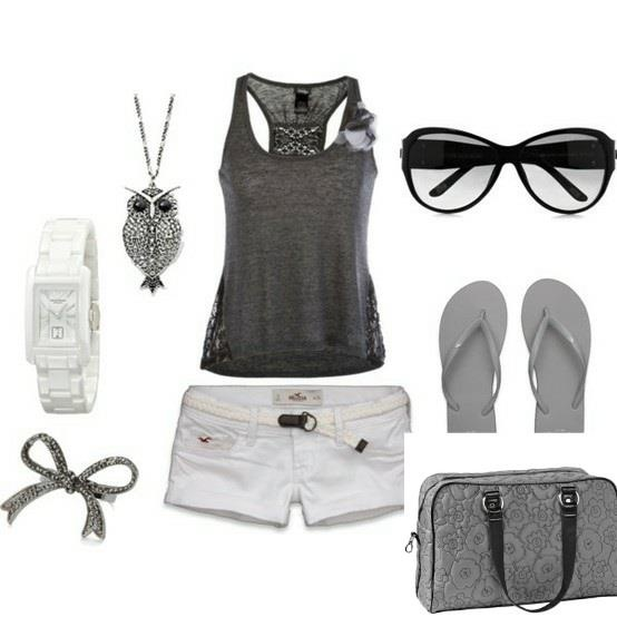 """Weekend get-away! Short Shorts for Summer with designer glasses, watch, flip flops and the Owl necklace...don't forget the favorite """"weekender"""" bag from thirty-one!  Weekender $89   www.mythirtyone.com/dianecaudill"""