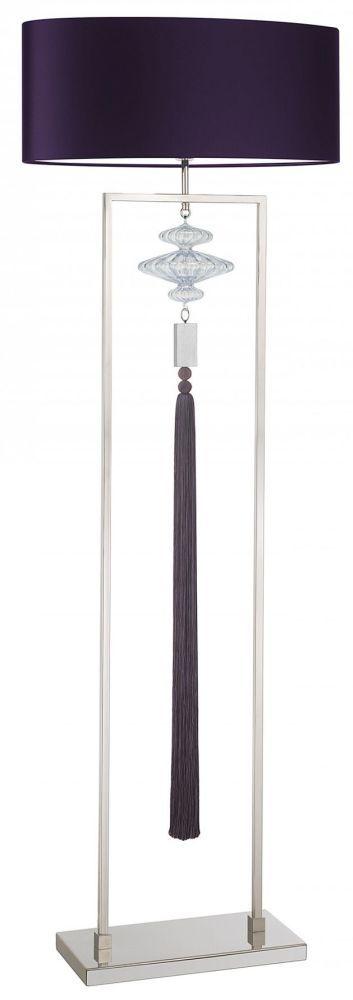 Constance Nickel And Rich Purple Floor Lamp
