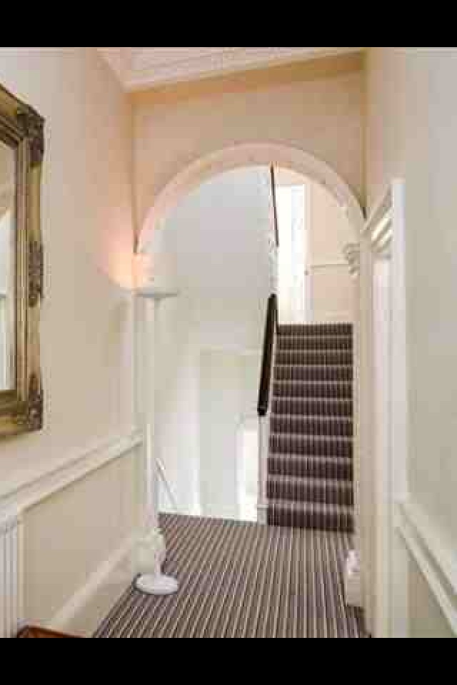 Hall Stairs Carpet White Stripes Hallway Stairs And