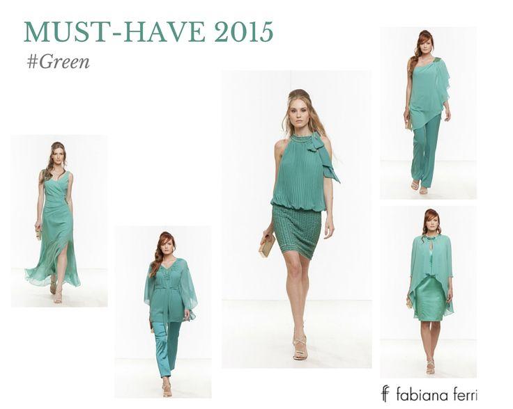 #Musthave... #Green uno dei #colori #must di questo 2015!  #Verde #colore brillante e intenso che dona a qualsiasi tipo di carnagione. Un colore facilissimo da abbinare. Per il giorno e per la sera indossalo in total #look  #moda #glam #trend #style #fashion #dress