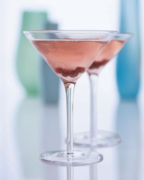 Lush, a pink champagne cocktail. Recipe on Food & Wine