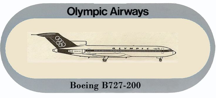 Olympic Airways Sticker Boeing B727-200