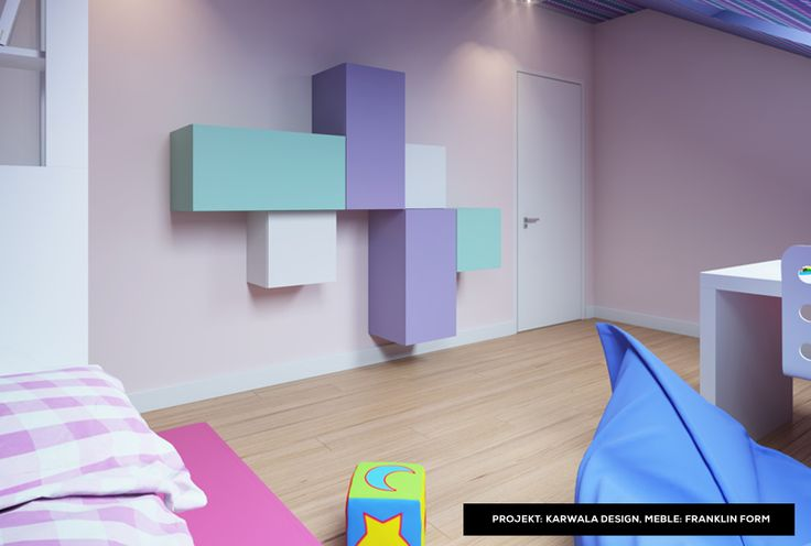 Pastel modular furniture by Franklin Form - beautiful kids room