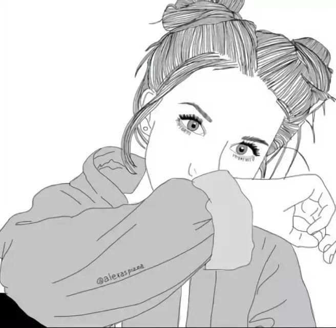 Картинки девушек в стиле тумблер для срисовки, картинки профессии имени