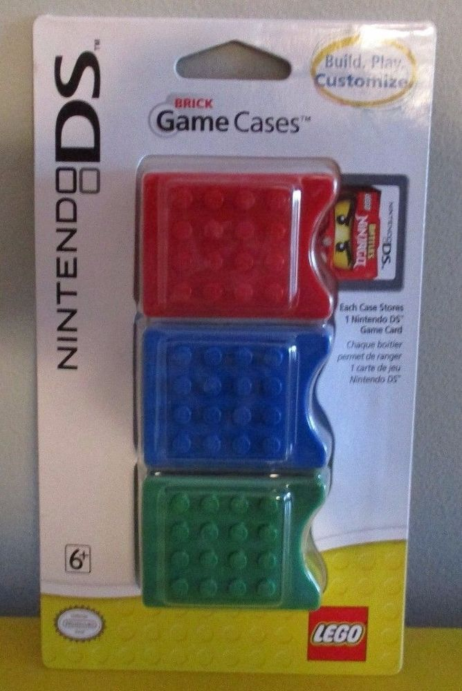 NEW Nintendo DS DS Lite DS i DS xl Lego Brick Game Cases Stack Build & Store #NintendoLEGO