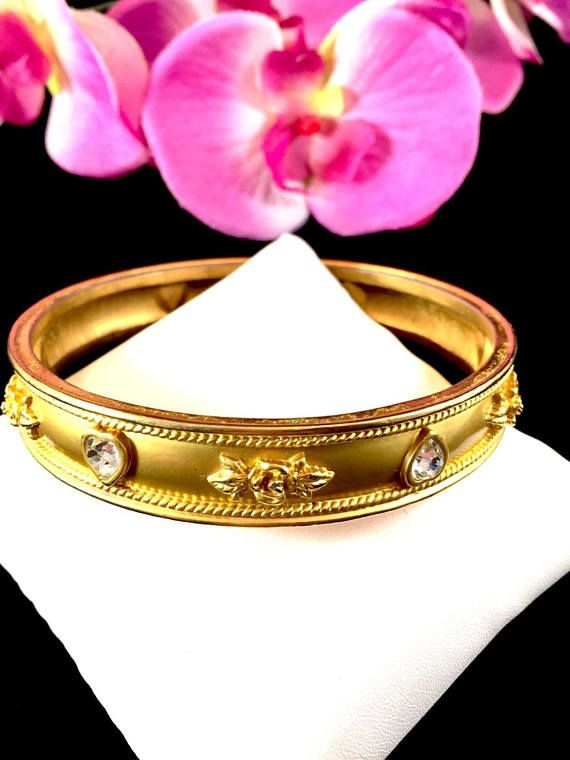 Elizabeth Taylor Bracelet  Love Blooms 22K Gold Plated
