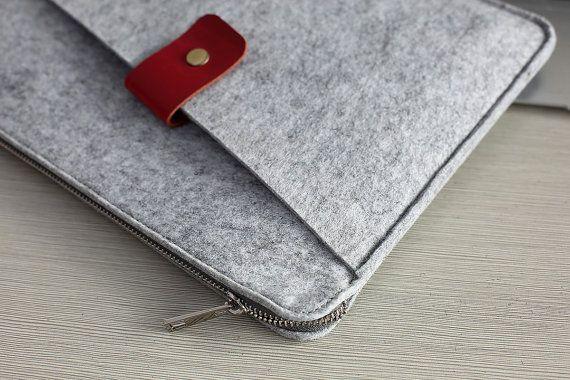 Felt 13 inch Macbook Sleeve 13 inch Laptop by JYcustomworkshop