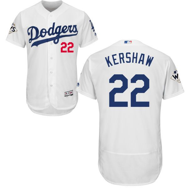 00ec3bcf4 ... cool base jersey fe8f1 a1257  discount code for dodgers 22 clayton  kershaw white flexbase authentic collection 2017 world series bound stitched