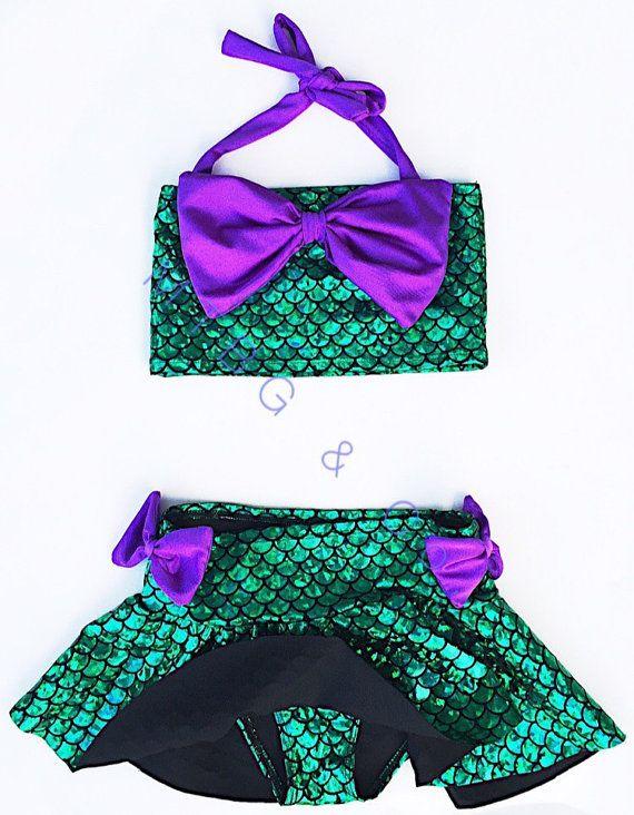AMAYA pequeño bikini falda sirena / bikini de por MTBGBOUTIQUE