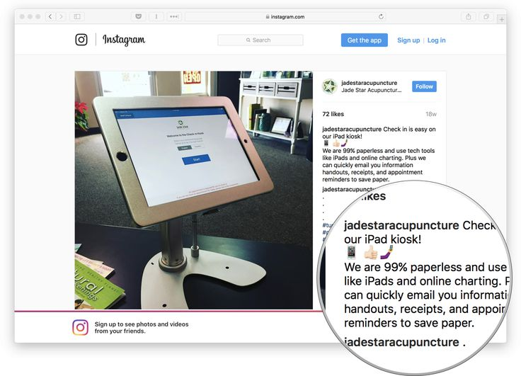 iPad Patient Check-In on Instagram!