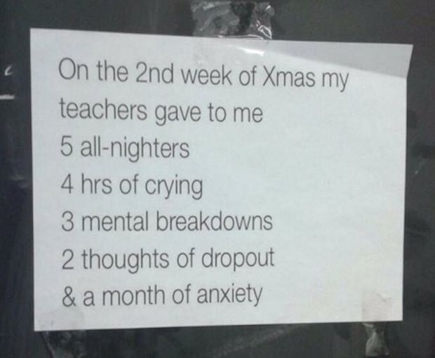 And, in the end, you'll have your own holiday classic to sing:   21 Pictures That Sum Up The End Of The Semester