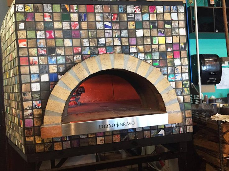 A Modena Commercial Pizza Oven with Skateboard Deck Tiles by Shotti's Point in Ocean City, MD.