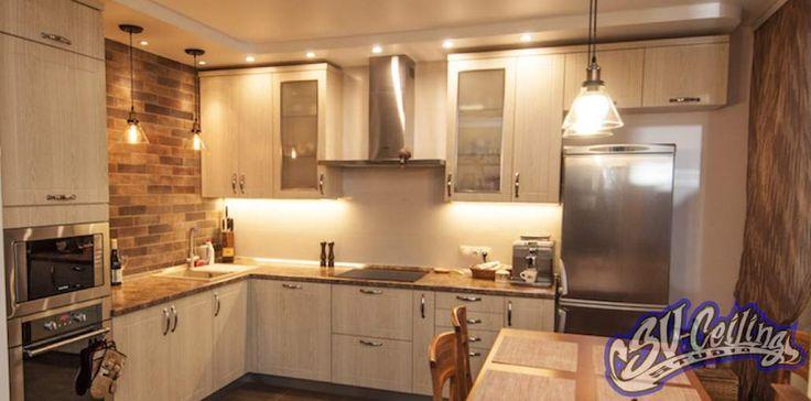 Ремонт кухни в стиле лофт - отделка кухни плиткой
