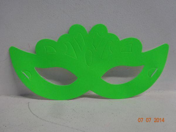 Antifaz media cara en color verde Neón. #FiestasTematicasAdultosCali #FiestasTematicasParaAdultosEnCali