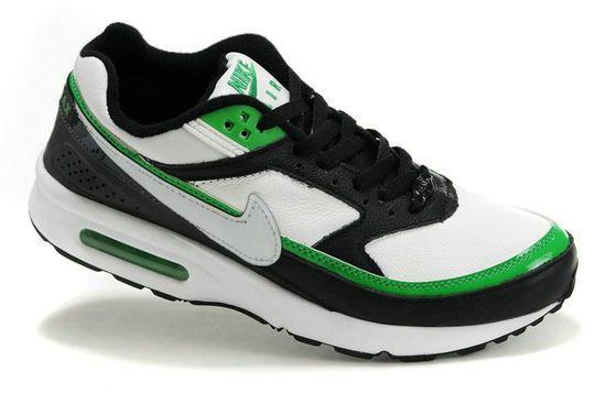 XpJ6KQ Nike Air Max Classic BW Shoes Mens Black/White/Green