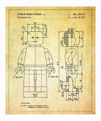Lego 'Toy Figure' 1979 Art Print | Daily deals for moms, babies and kids