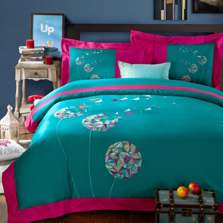 Dandelions Promise Cyan Bedding Girls Bedding Teen Bedding