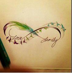 Tattoo infinity love family                              …