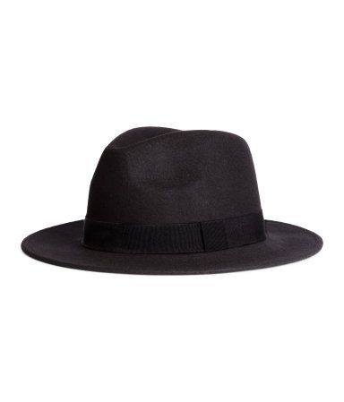 Hat in felted wool with a grosgrain band. | H&M Divided Guys