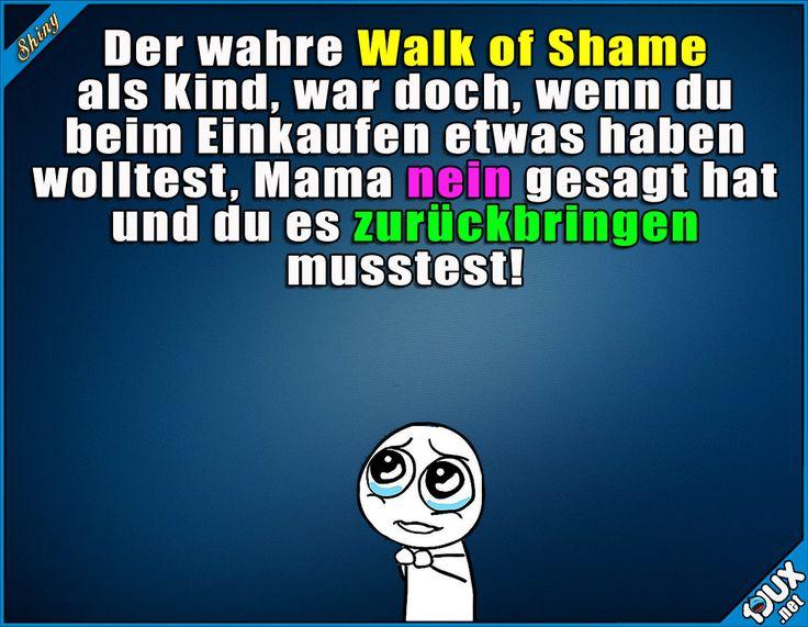 Mein Walk of Shame als Kind.  #Kindheit #einkaufen #WalkofShame #sowahr #Sprüche #Kindheitsmomente