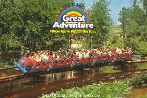 THE RUNAWAY TRAIN at great adventure amusement park in nj---greatadventurehistory.com
