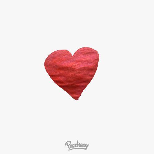 Glitter drawn heart