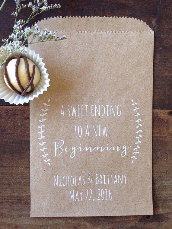 Mariage de sacs de biscuits Laurel rustique par DetailsonDemand