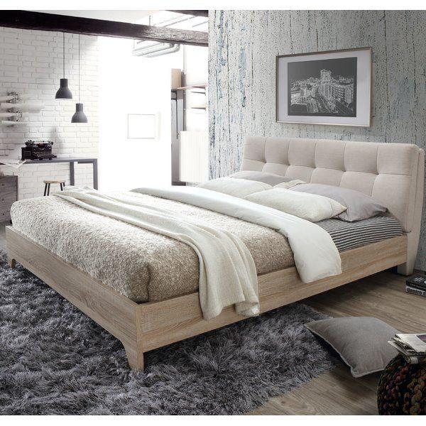 Platform Bed Upholstered, Rebecca Upholstered Queen Platform Bed