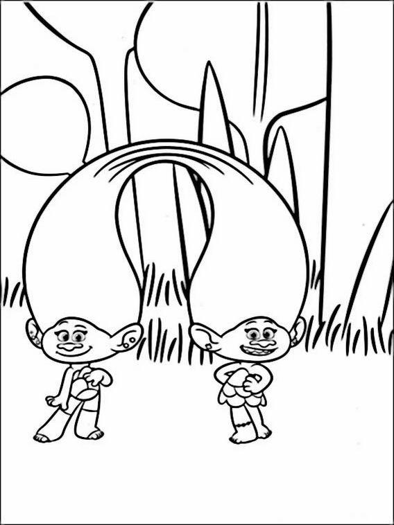 Desenhos Para Colorir Dos Trolls Cartoon Coloring Pages