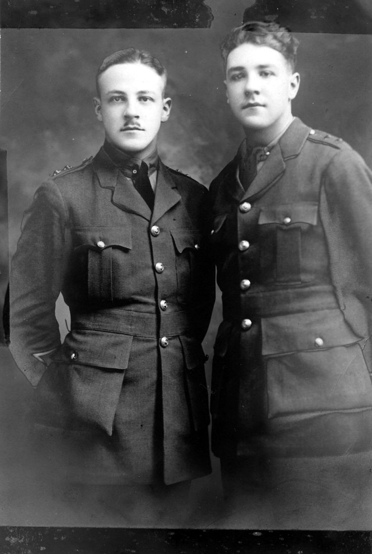 Brothers Walter and Andrew Thompson in their military jackets