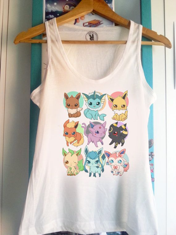 Hey, I found this really awesome Etsy listing at https://www.etsy.com/ca/listing/241958823/pokemon-eeveelutions-tank-top-sleeveless