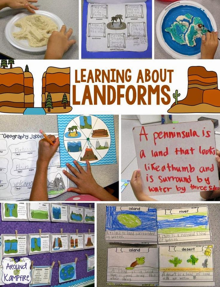 Learning About Landforms. Lots of ideas for teaching and writing about landforms. #landforms
