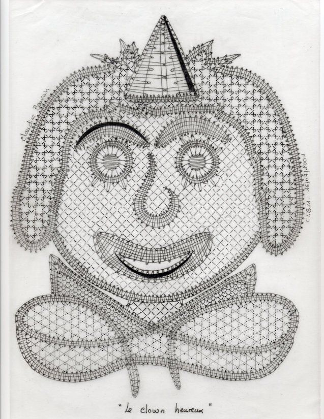 Clown, modèle créé par Claudine