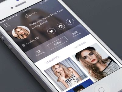 Dribbble - Menu interaction - fashion platform GIF by Ben Dunn