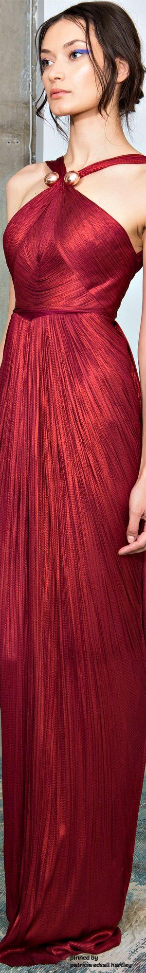 Wrinkled draped red dress