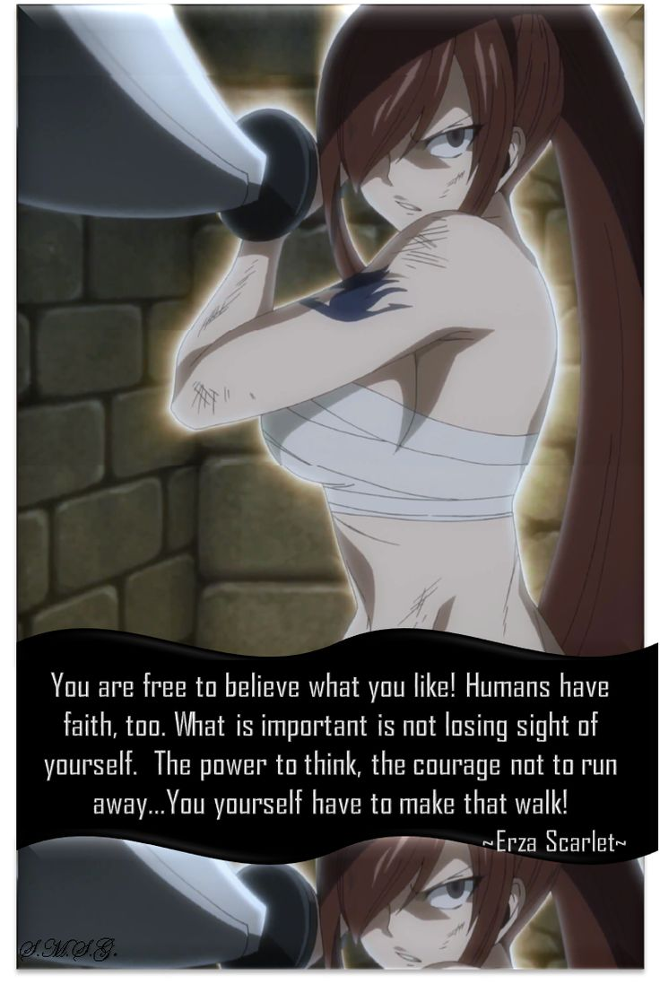 fairy tail, fairy tail 2014, episode 66, erza scarlet, titania, live quotes, wise, freedom, choose, not to lose sight of yourself, wal by yourself, Uploaded by: stella scarlet segui