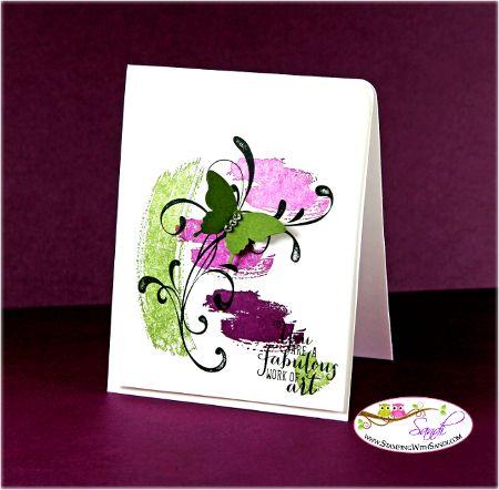 Stampin Up Work of Art Stamp set card by Sandi @ www.stampingwithsandi.com