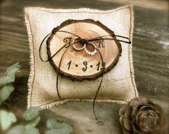 Cuscino per fedi rustico anello porta iuta anello di kaleda