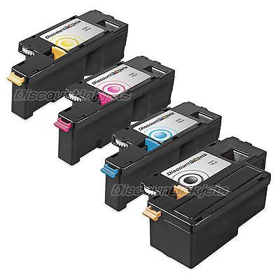 4pk BLACK & Color Printer Laser Toner Cartridge for Dell 1350cnw C1760nw C1765nf
