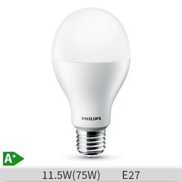 Bec LED Philips CoreLED, forma clasica, 11.5W, E27, 15000 ore, lumina calda www.etbm.ro/becuri-led
