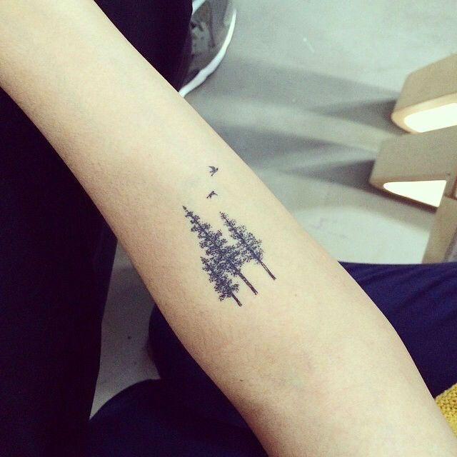 22 Pictures of Mystical Pine Tree Tattoos. See even more at the photo link
