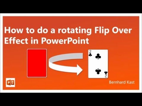 How to do a rotating Flip Over Effect in PowerPoint - YouTube