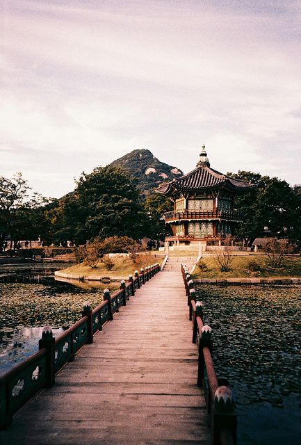 A pagoda in the grounds of the Gyeongbokgung palace, Seoul, South Korea