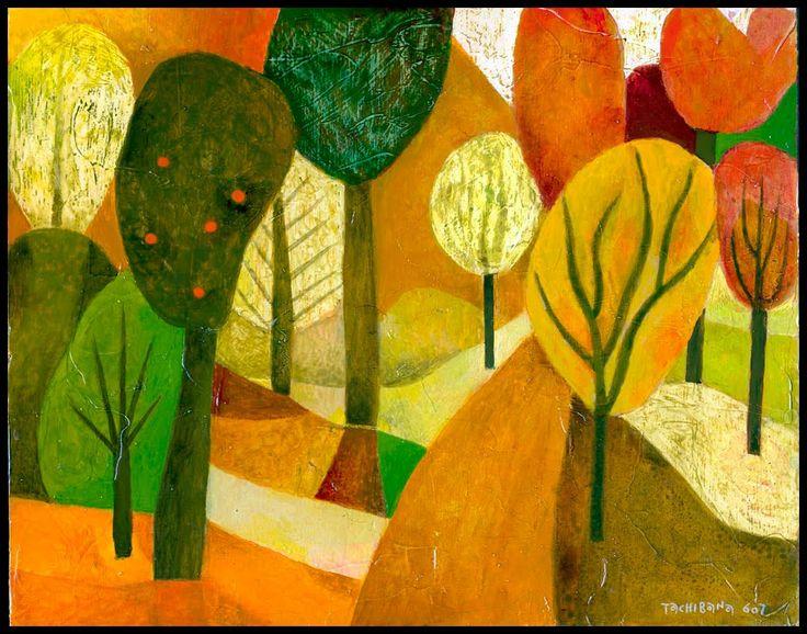 Pinturas del artista Yoshiro Tachibana, Bodegones, Paisajes, Desnudos, arte minimalista, acuarelas.