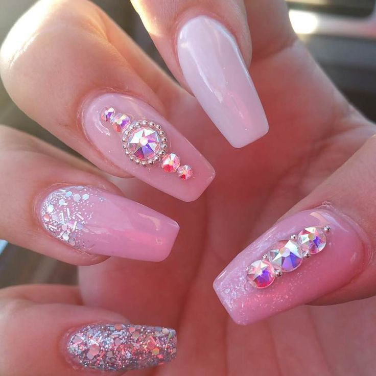 + 40 Top Bow Nail Designs & Pink Acrylic 2018 - The 25+ Best Pink Nail Designs Ideas On Pinterest Pretty Nails