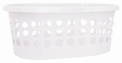 Dieser schicke Wäschekorb ist ein praktischer Helfer für Ihren Haushalt. Der ovale Wäschekorb aus robustem Kunststoff in Weiß bietet mit einer Größe von ca. 39 x 59 x 24 cm (L x B x H) und einem Fassungsvermögen von ca. 30 Liternideal Platz für Ihre Wäsche. 2 praktische Tragegriffe erleichtern die Handhabung des Wäschekorbs. Dank des neutralen und schlichten Designs passt er in jede Wohnumgebung.