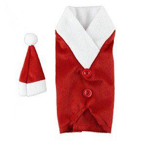 Covermason Bouteille de vin décoratives Noël définit avec Bonnet de Noël sur la bouche de la bouteille