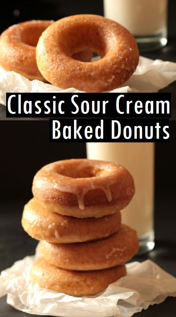 Classic Sour Cream Baked Donuts Sour Cream Recipes Sour Cream Recipes Dessert Cake Donuts Recipe