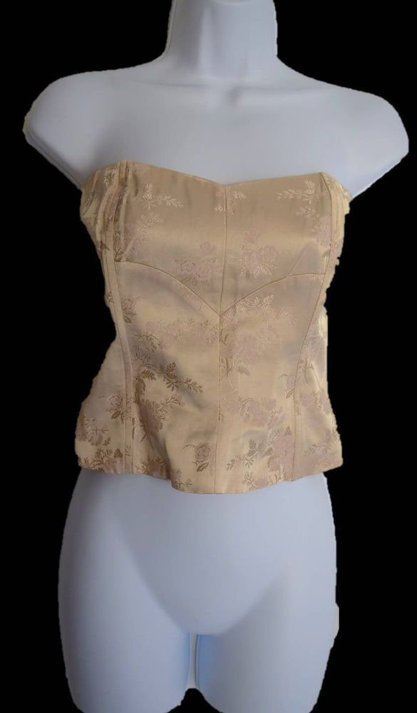 The Limited Women's Corset Top Strapless Bustier Pale Pink Taupe Floral Size 2    Clothing, Shoes & Accessories, Women's Clothing, Tops & Blouses   eBay!